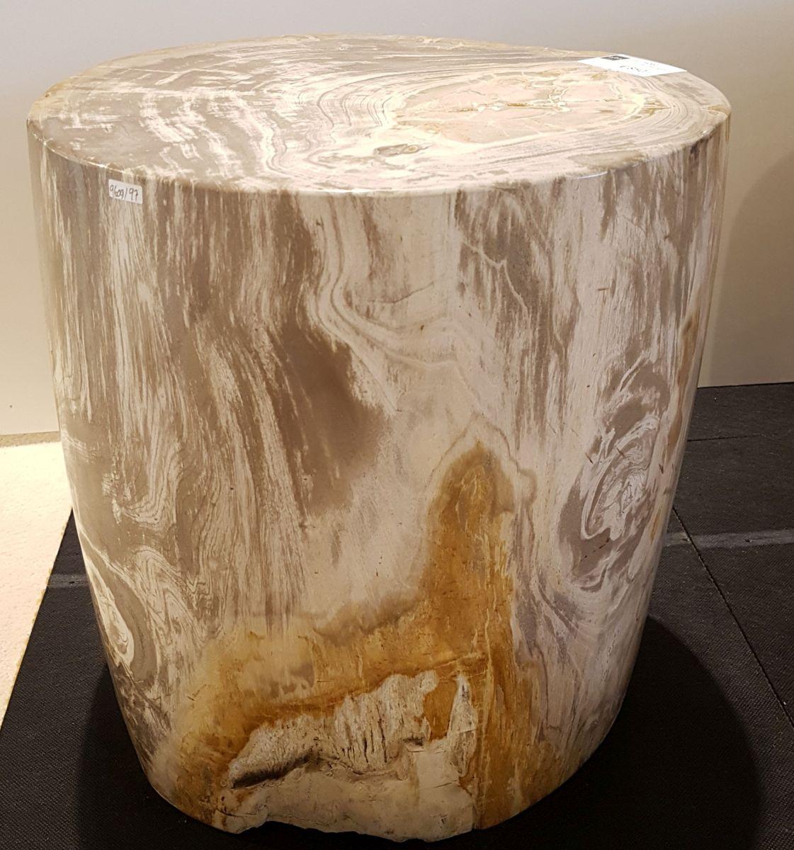 Bijzettafel versteend hout 26002