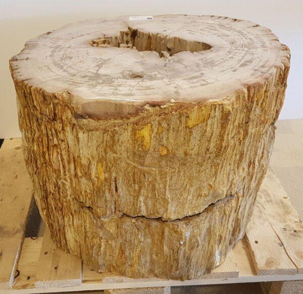 Bijzettafel versteend hout 26016