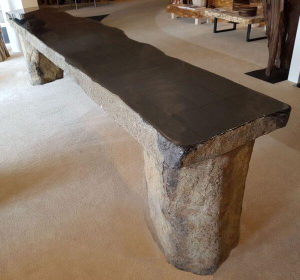 Mesa de centro madera petrificada 91216