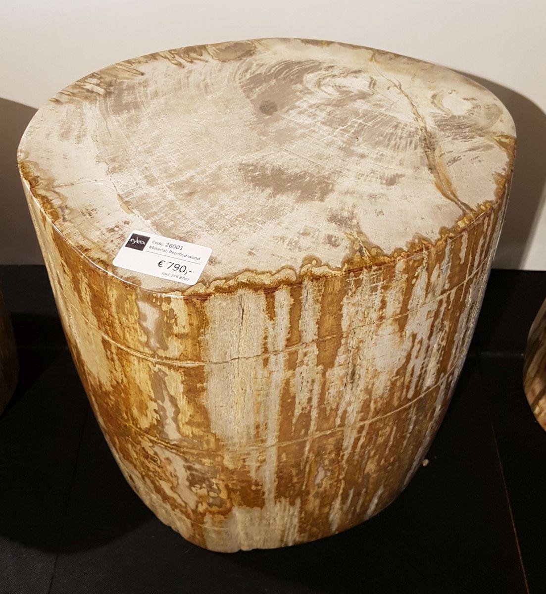 Table d'appoint bois pétrifié 26001