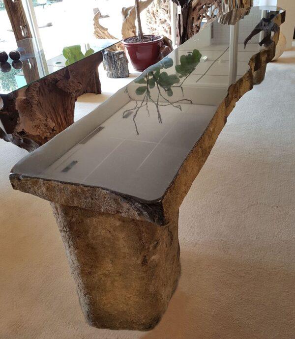 Salontafel versteend hout 91216