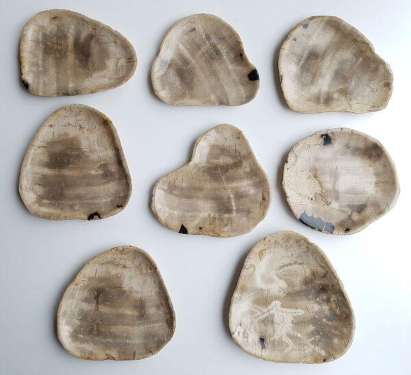 Plato madera petrificada 33004g