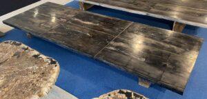 Table en bois pétrifié 33249