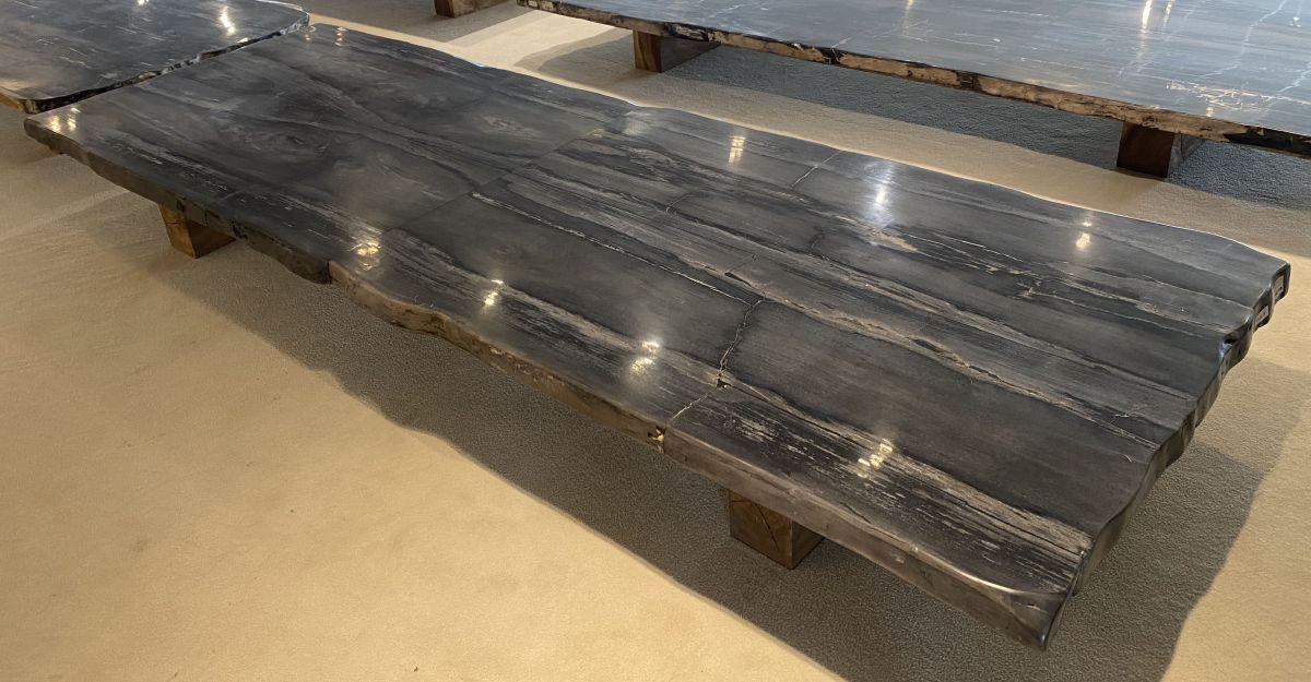 Table en bois pétrifié 33253