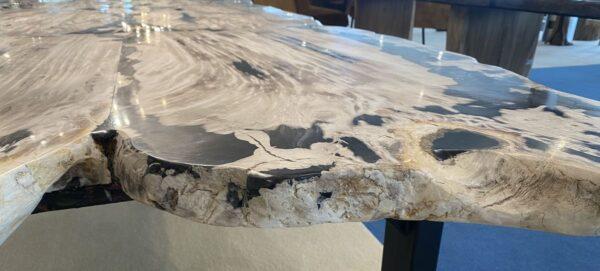 Table en bois pétrifié 33254