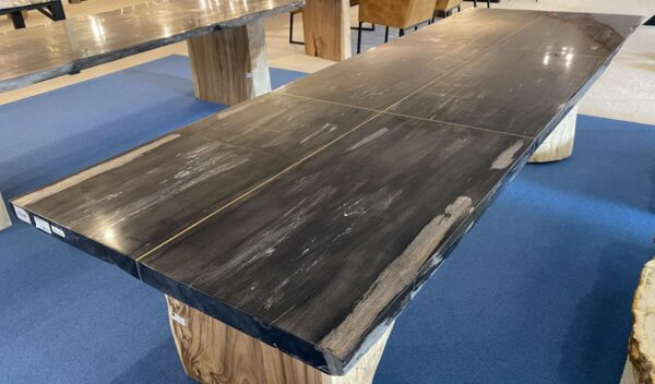 Table en bois pétrifié 33256