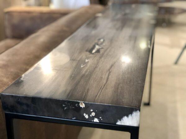Cómodas madera petrificada negro