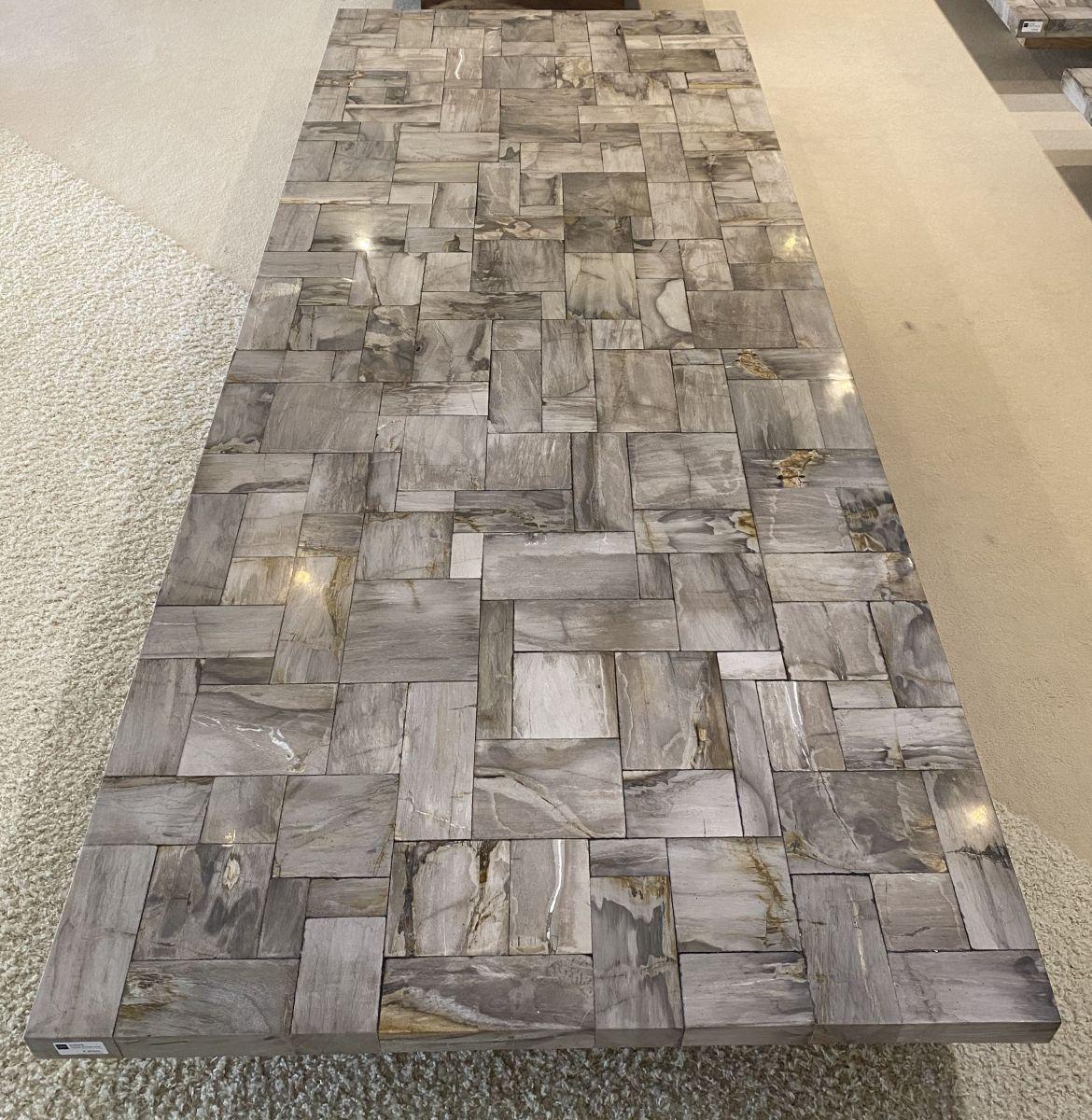 Mesa madera petrificada 33225