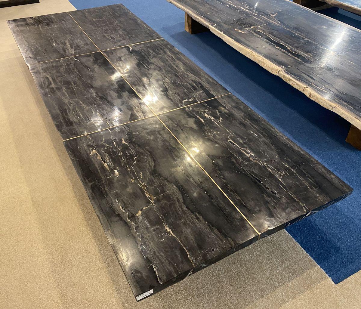 Mesa madera petrificada 33248