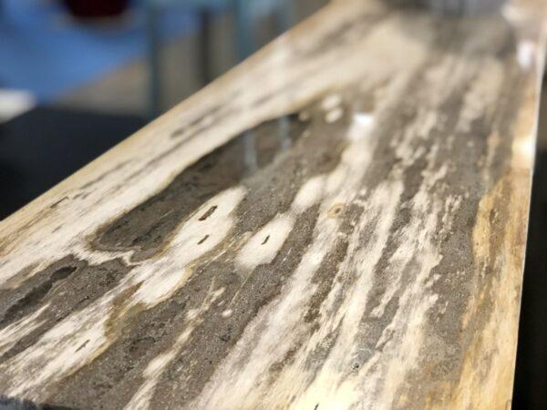 Console table petrified wood light