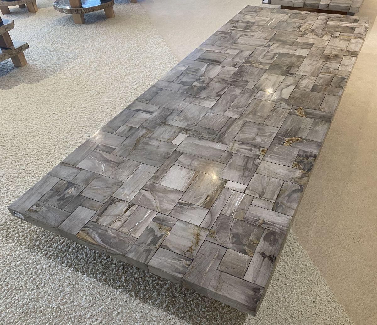 Tafelblad versteend hout 33225