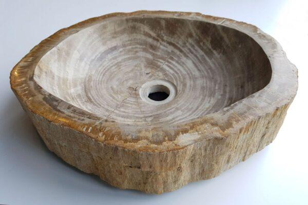 Wastafel versteend hout 32554