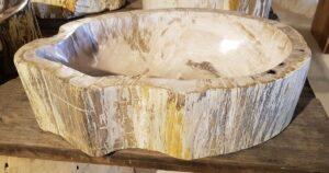Waschbecke versteinertes Holz 30049