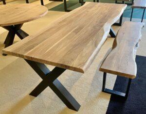 Live edge table acacia