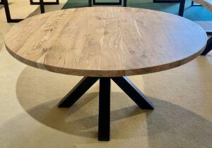 Live edge table acacia round
