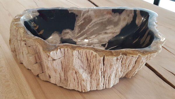 Boule bois pétrifié 28738