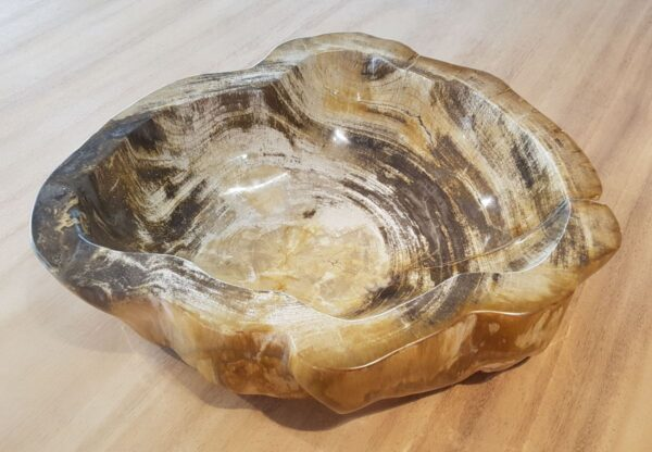 Bowl petrified wood 28048