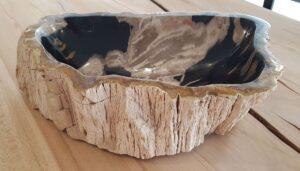 Bowl petrified wood 28738