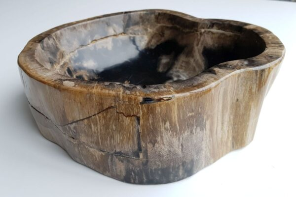 Bowl petrified wood 32524