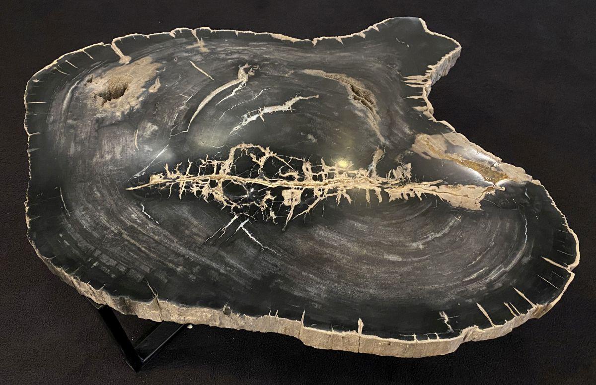 Mesa de centro madera petrificada 34170