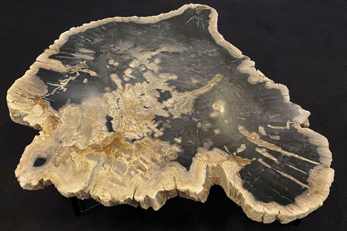 Mesa de centro madera petrificada 34276