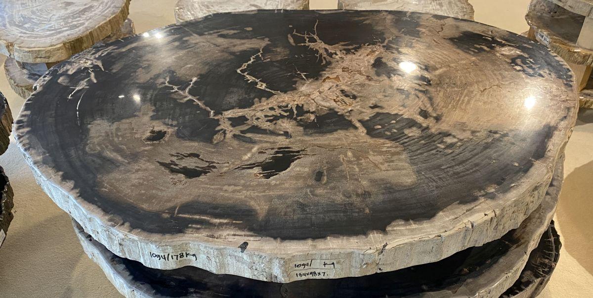 Table basse bois pétrifié 34155