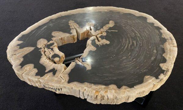 Table basse bois pétrifié 34202