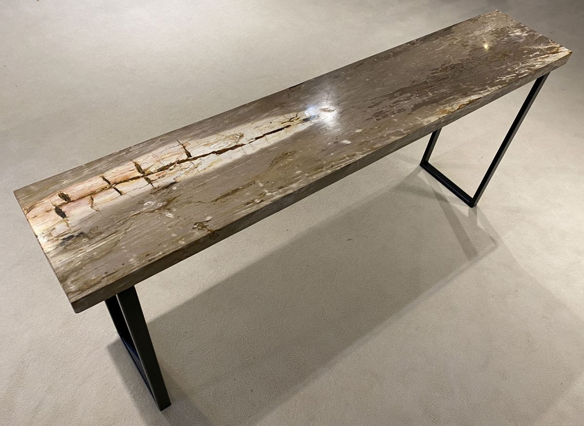 Console table petrified wood 34130