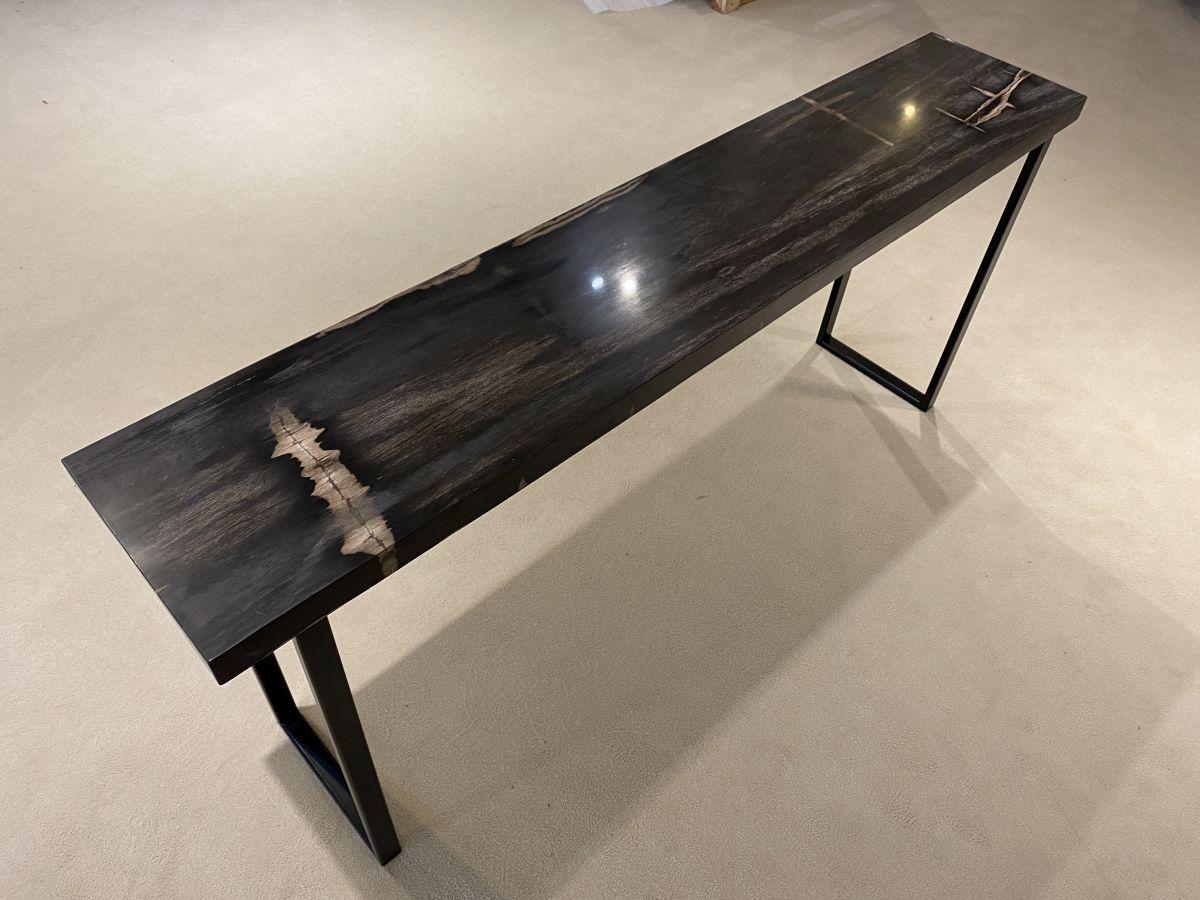 Consoletafel versteend hout 34129