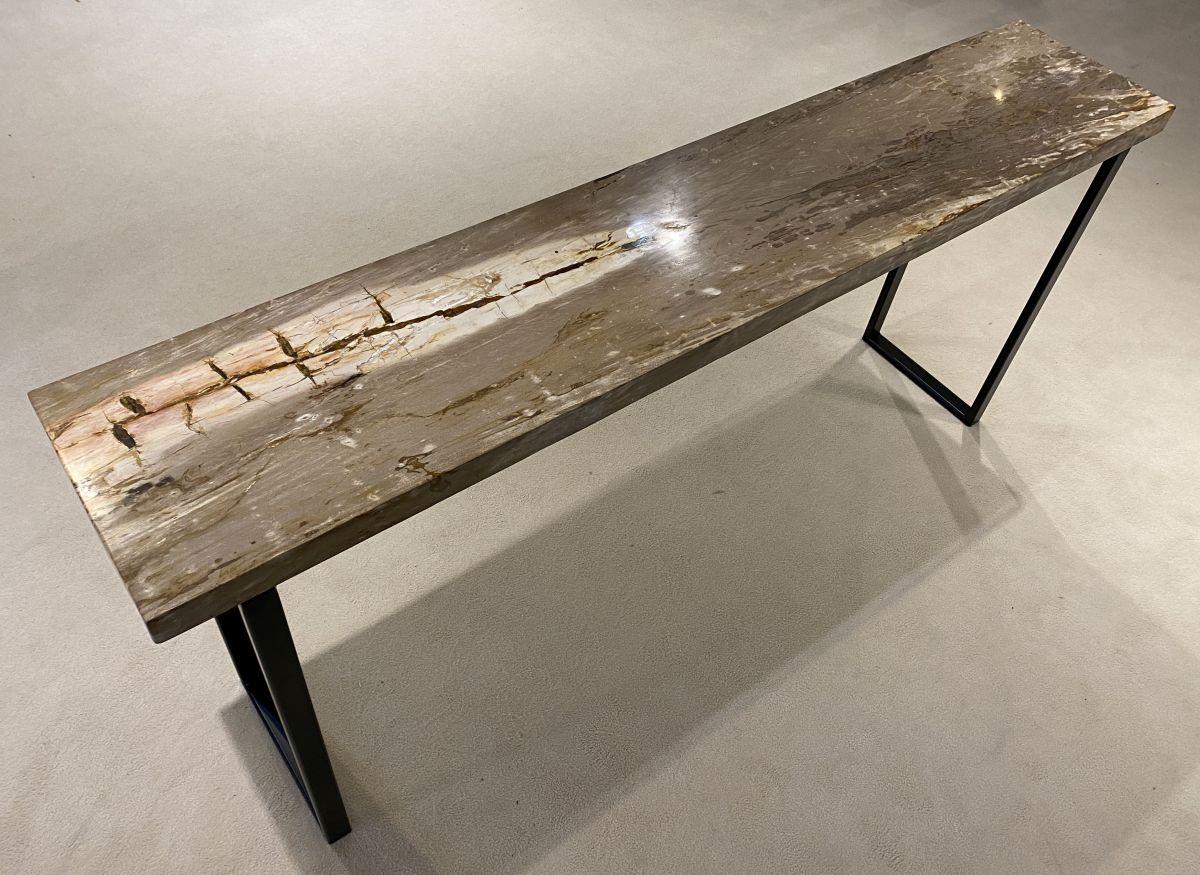 Consoletafel versteend hout 34130