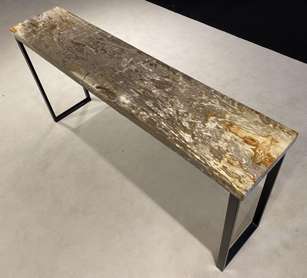 Consoletafel versteend hout 34131