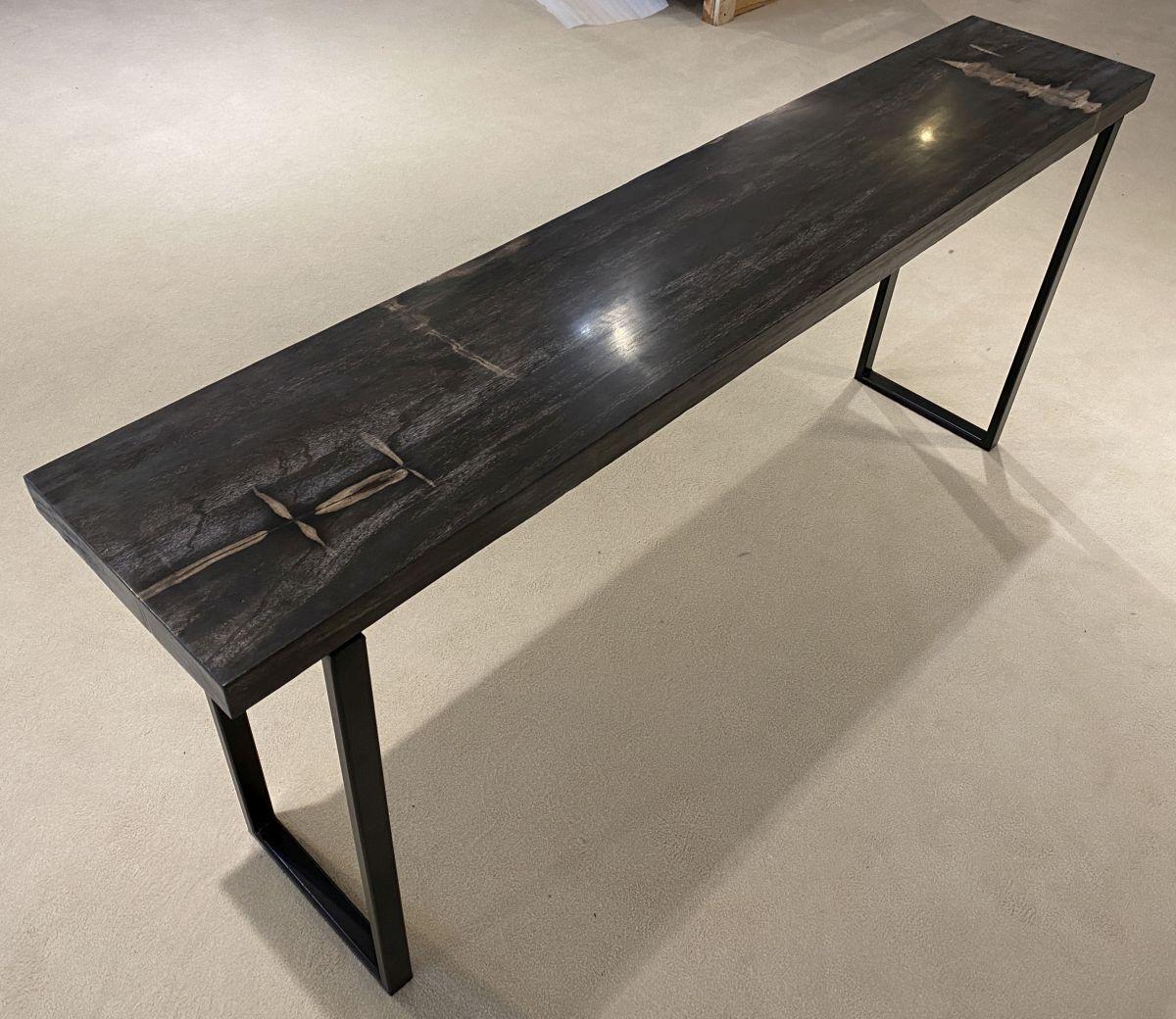 Consoletafel versteend hout 34134