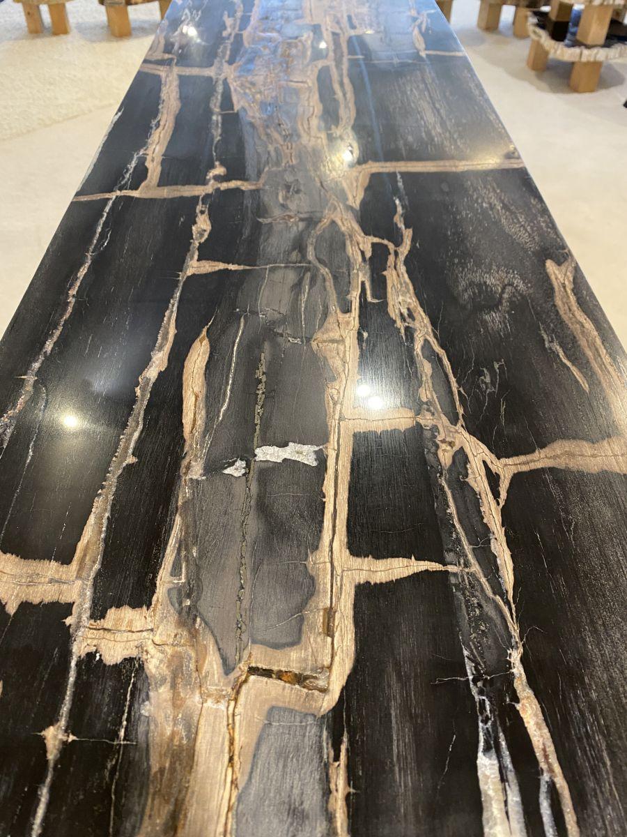 Consoletafel versteend hout 34135