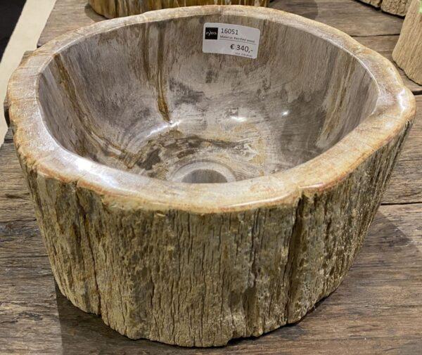 Lavabo bois pétrifié 16051