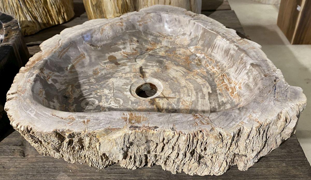 Lavabo bois pétrifié 34396
