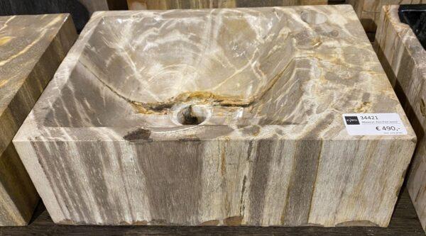 Lavabo bois pétrifié 34421