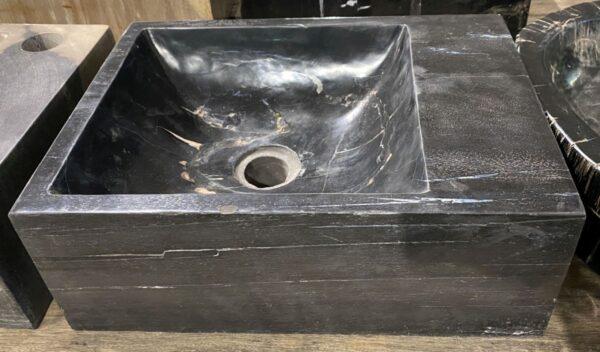 Lavabo bois pétrifié 34425