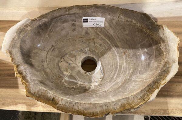 Lavabo madera petrificada 28741