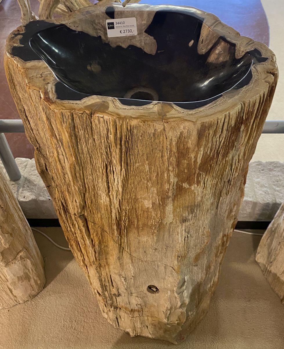 Lavabo madera petrificada 34410