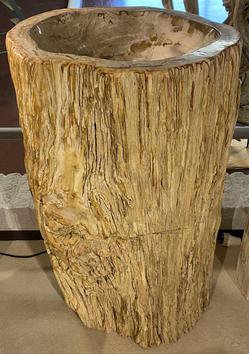 Lavabo madera petrificada 34411