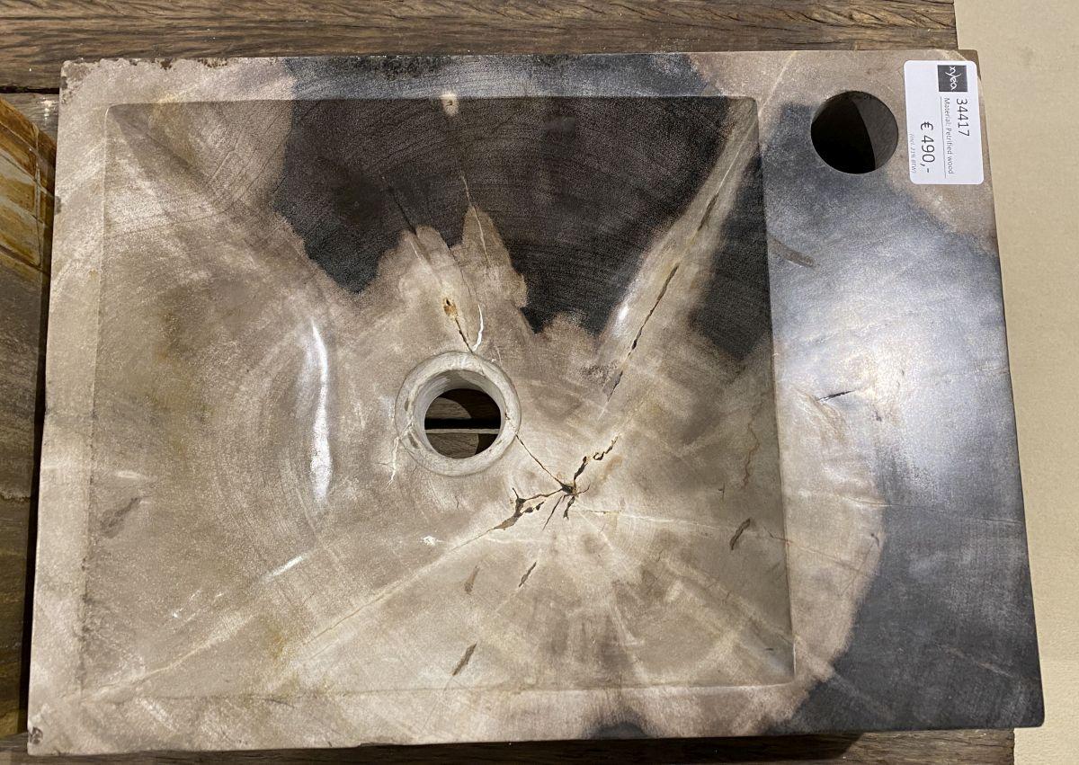 Lavabo madera petrificada 34417