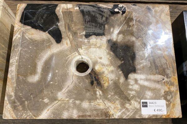 Lavabo madera petrificada 34423