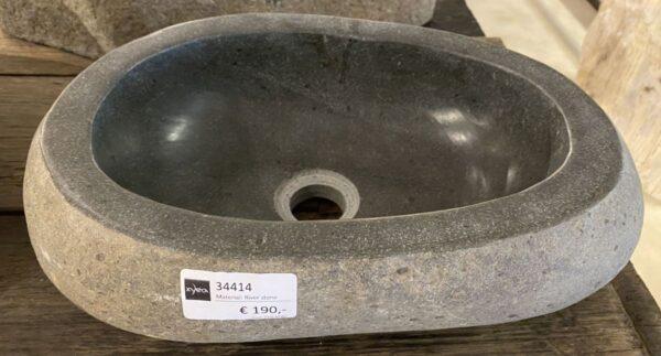 Waschbecke versteinertes Holz 34414