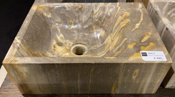 Waschbecke versteinertes Holz 34422