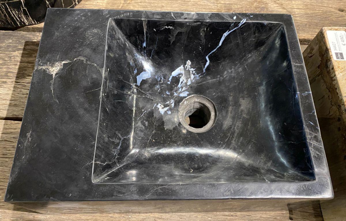 Waschbecke versteinertes Holz 34428