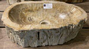 Wastafel versteend hout 27567