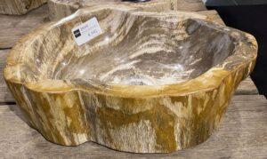 Wastafel versteend hout 28049