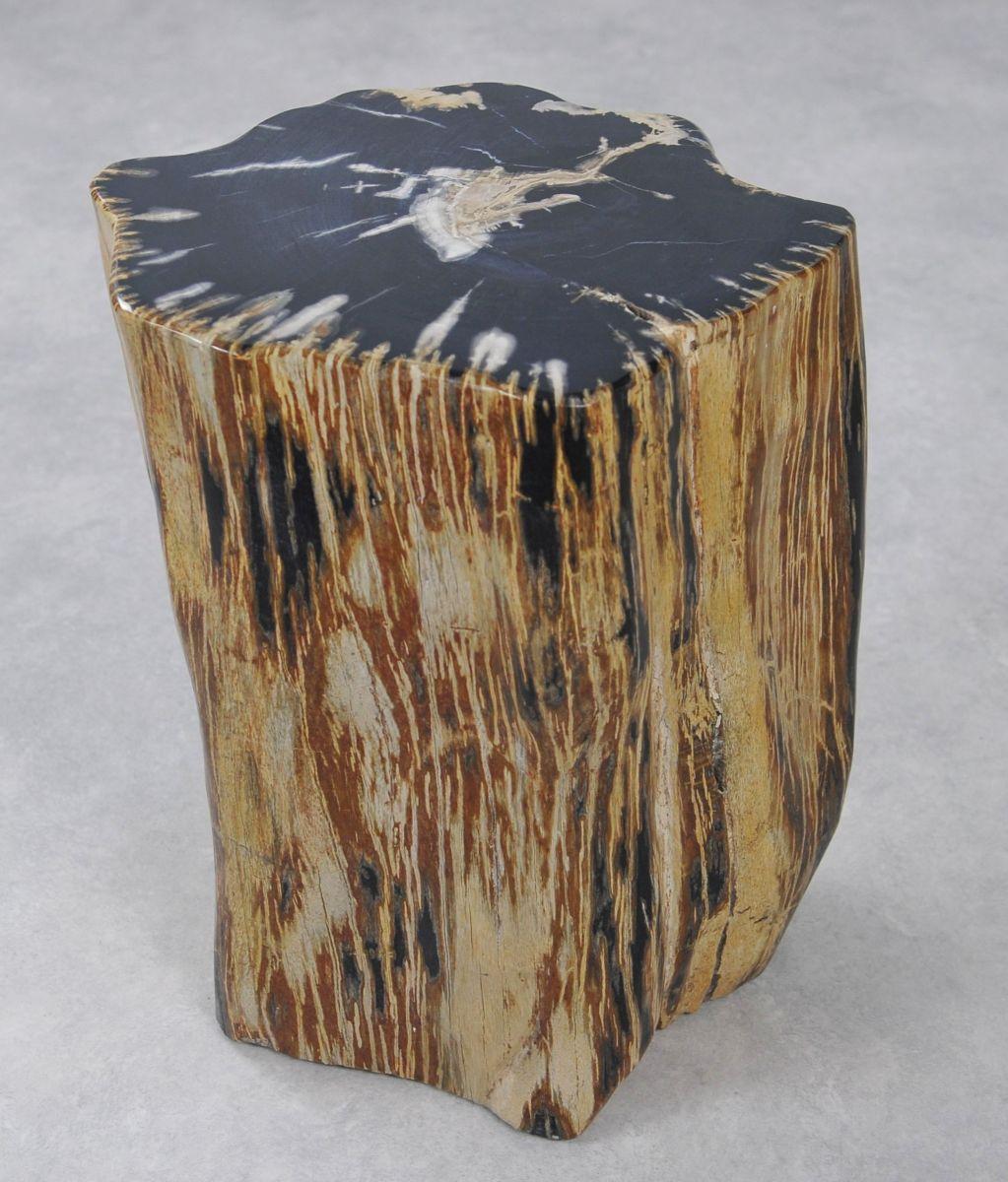 Bijzettafel versteend hout 34000