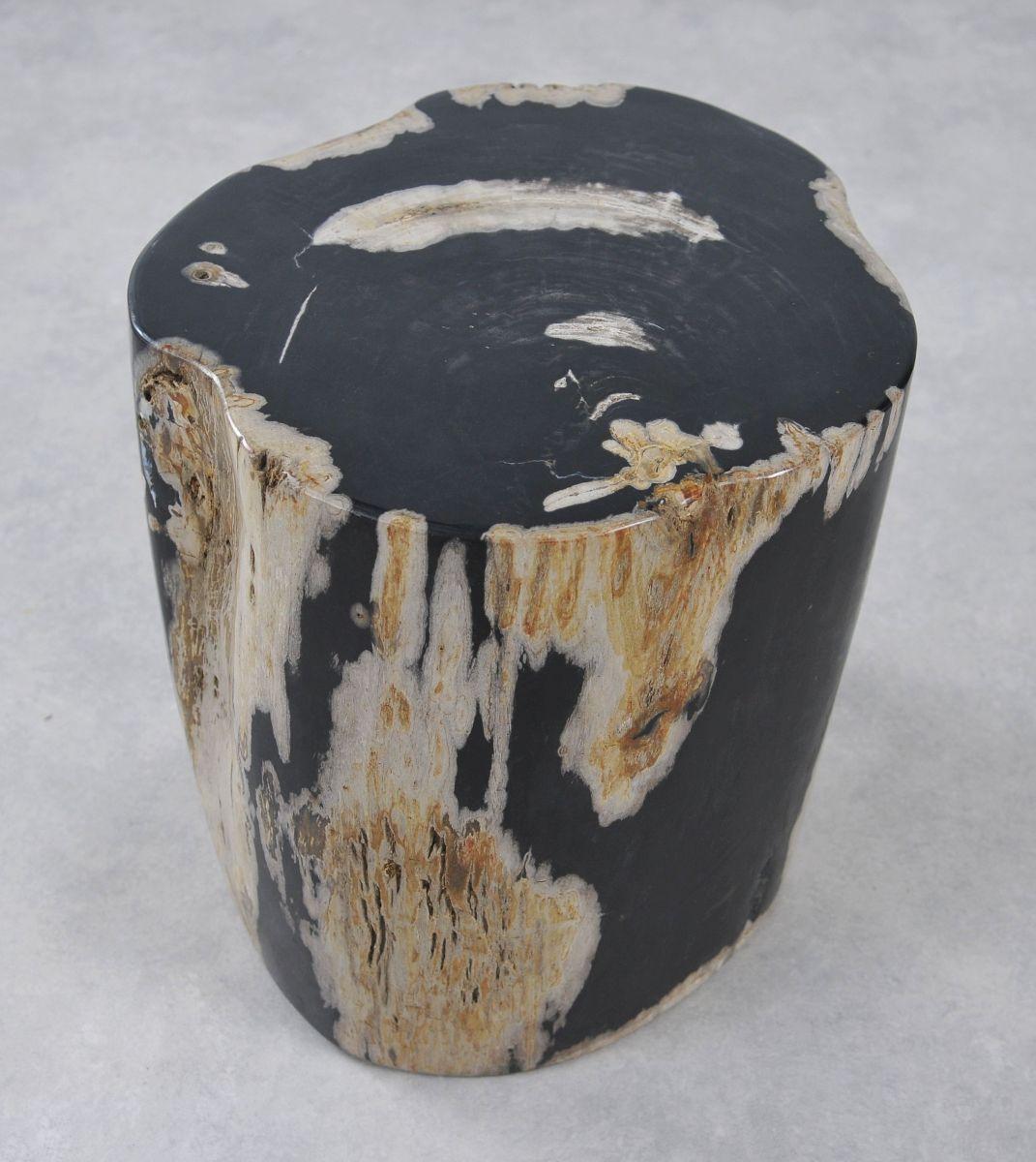 Bijzettafel versteend hout 34001