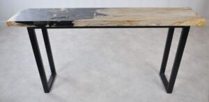 Console table petrified wood 35123